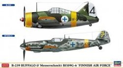 BUFFALO-239&BF109G-6 (FINNISH AIRFORCE) SKALA 1/72