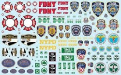 NYC AUXILIARY SERVICE LOGOS DECALS SKALA 1:25