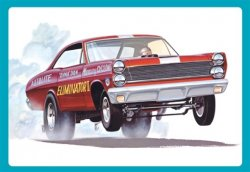 DYNO DON NICHOLSON MERCURY CYCLONE ELIMINATOR II FUNNY CAR. SKALA 1/25
