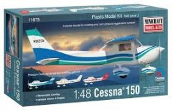 CESSNA 150 WITH 3 MARKING OPTIONS. SKALA 1/48