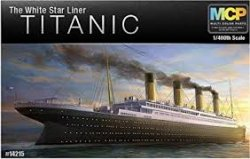 R.M.S. TITANIC WHITE STAR LINER (670MM) MCP COLORED PARTS, NO NEED TO PAINT. SKALA 1/400