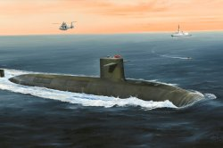 FRENCH NAVY LE TRIOMPHANT Ssbn. skala 1/350
