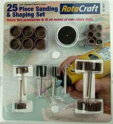 25 PC SAND+SANDING & SHAPING SET