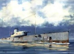 FRENCH SURCOUF SUB. CRUISER. SKALA 1/350