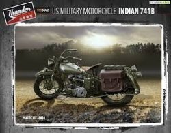 US MILITARY MOTORCYCLE INDIAN 741B. SKALA 1/35