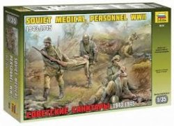 WWII SOVIET MEDICAL TROOPS. SKALA 1/35