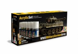 ACRYLIC SET (6 st.) WWII MILITARY GERMAN ARMY