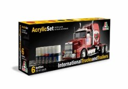 ACRYLIC SET (6 st.) INTERNATIONAL TRUCKS AND TRAILERS