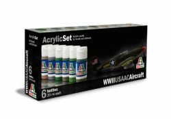 ACRYLIC SET (6 st.) WWII USA AIRCRAFT