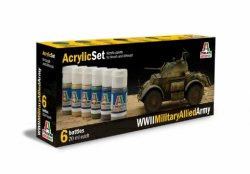 ACRYLIC SET (6 st.) WWII MILITARY ALLIED ARMY