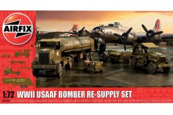 USA1942 WWII USAAF BOMBER RE-SUPPLY SET. 200 DELAR NIVÅ 2 AV 4. SKALA 1/72
