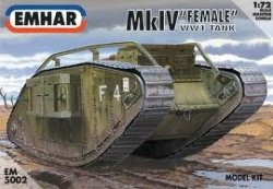 "Mk IV ""FEMALE"" WW1 BATTLE TANK SKALA 1/72"