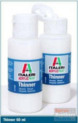 THINNER FOR ITALERI ACRYLIC SETS 1 x 60 ml.