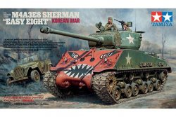 US MEDIUM TANK M4A3E8 SHERMAN MED 2 FIGURER. SKALA 1/35