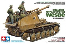 GERMAN SELF-PROPELLED HOWITZER WESPE MED 4 FIGURER. SKALA 1/35