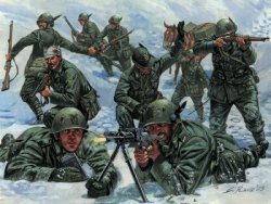 ITALIAN MOUNTAIN TROOPS. WWII. 48 st. SKALA 1/72