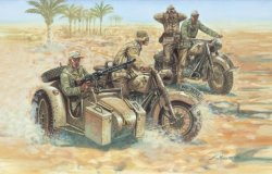 GERMAN MOTORCYCLES WWII. 4 + 16 st. SKALA 1/72
