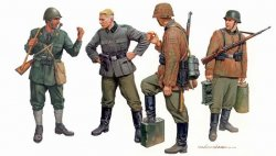 FRAGILE ALLIANCE AXIS FORCES (BALKANS 1943) 4 FIGURER. SKALA 1/35