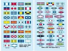 NAVY SIGNAL FLAGS WWII - DECAL SKALA 1:200