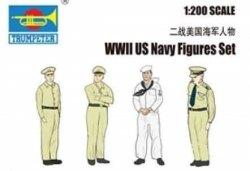 WWII US NAVY FIGURES SET sKALA 1:200