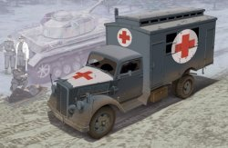GERMAN AMBULANCE TRUCK SKALA 1/35