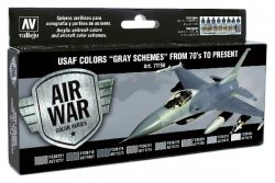 USAF COLORS GREY SCHEMED FROM 70`TO PRENT. 8 C 17 ML. MODEL AIR