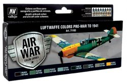 LUFTWAFFE COLORS PRE-WAR TO 1941. 8 X 17 ML. MODEL AIR