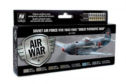 SOVIET AIR FORCE 1943-1945. 8 X 17 ML. MODEL AIR.