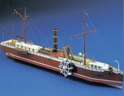 THE NORTH RIVER STEAMBOAT OF CLERMONT. SKALA 1/200