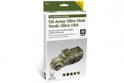 US ARMY OLIVE DRAB. 6 X 8 ML. ARMOUT PAINTING.