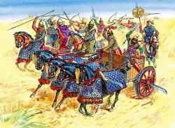 PERSIAN CHARIOT AND CAVALRY. SKALA 1/72