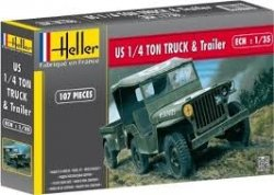 WILLLIS JEEP & TRAILER. SKALA 1/35
