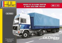 VOLVO F12-20 TWIN AXLE SEMI TRAILER. SKALA 1/32