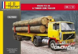 VOLVO F12-20 TIMBER SEMI TRAILER. SKALA 1/32