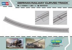 GERMAN RAILWAY CURVED TRACK SKALA 1:72