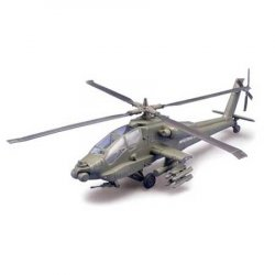 APACHE HELICOPTER SKALA 1:32 (PRE PAINED METAL AND PLASTIC, EASY BUILD)