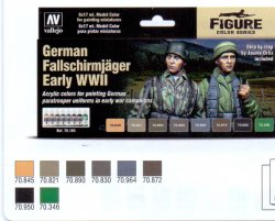 GERMAN FALLSCHIRMJÄGER EARLY WWII. 8 X 17 ML.