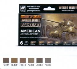 WWII PAINT SET AMERICAN ARMOUR & INFANTRY. 6X17 ML.