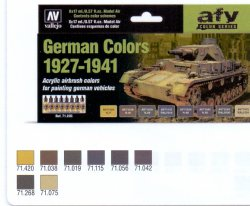 GERMAN CAMOUFLAGE COLORS 1927-1941. 8 X 17 ML. MODEL AIR.