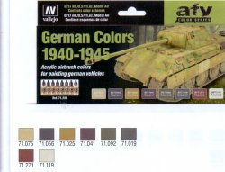GERMAN CAMOUFLAGE COLORS 1940-1945. 8 X 17 ML. MODEL AIR.