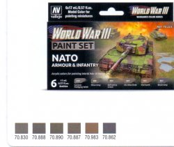 WWII PAINT SET NATO ARMOUR & INFANTRY.6 X 17 ML.
