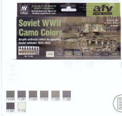 SOVIET WWII CAMO COLORS. 8 X 17 ML. MODEL AIR.