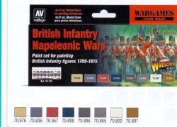 BRITISH INFANTRY NAPOLEONIC WARS. 8 X 17 ML.