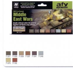 MIDDLE EAST WARS (1967´s TO PRESENT. 8 X 17 ML. MODEL AIR.