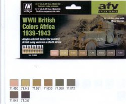 WWII BRITISH COLOR AFRICA 1939-1943. 8 X 17 ML. MODEL AIR.