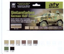 GERMAN ISAF COLORS (UMTARNFARBEN) 8 X 17 ML. MODEL AIR