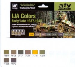 IJA COLORS EARLY/LATE 1937-1945. 8 X 17 ML. MODEL AIR