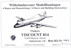 VICKERS VISCOUNT 814. SKALA 1/50