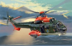 AS.532 COUGAR SUPER PUMA HKP10 IN SE AIRFORCE (DECAL SE) SKALA 1:72