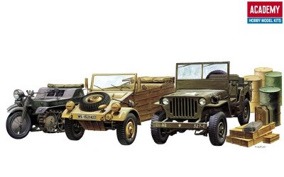 LIGHT VEHICLES OF ALLIED AND AXIS SKALA 1:72